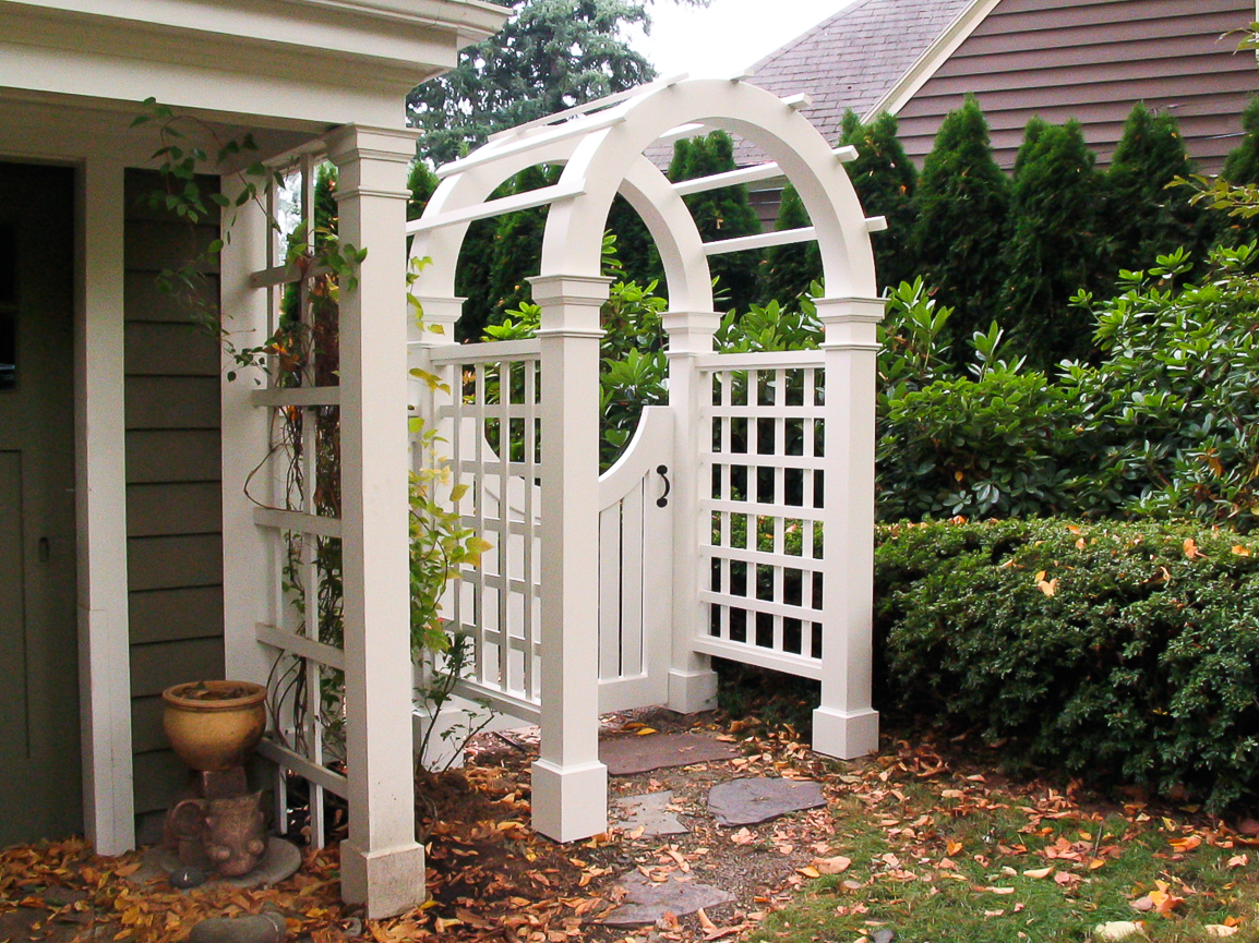 Arched Arbor & Gate