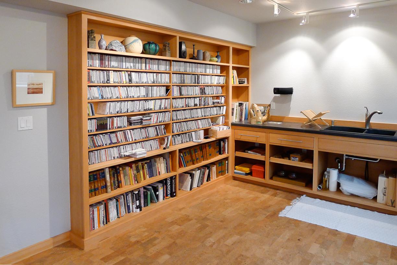 Art Studio Book Shelves & Storage