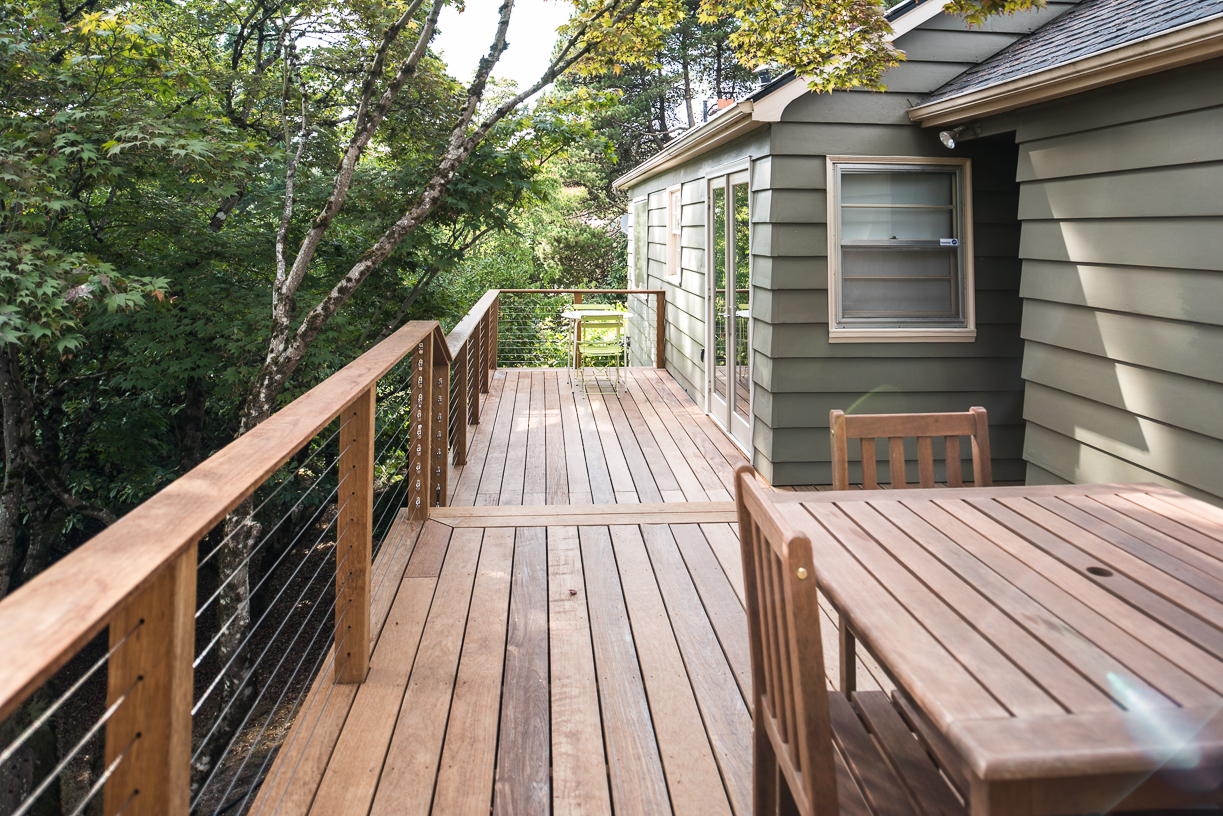 Second Story Ipe Deck