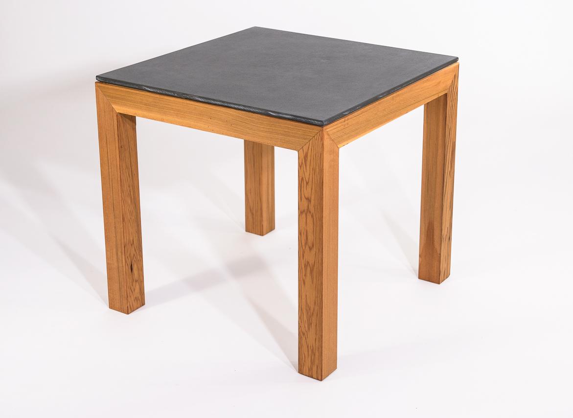 Cedar and Slate Side Table