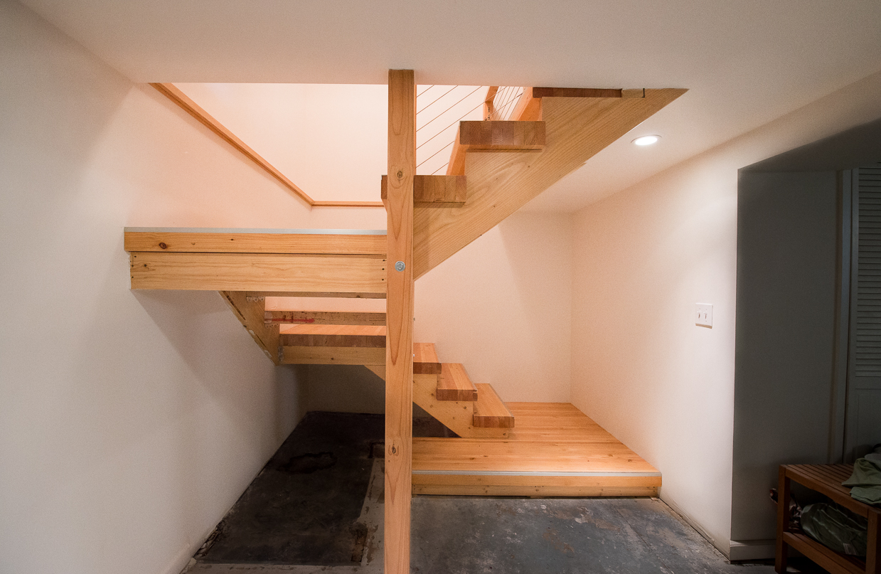 Contemporary Basement Stairway