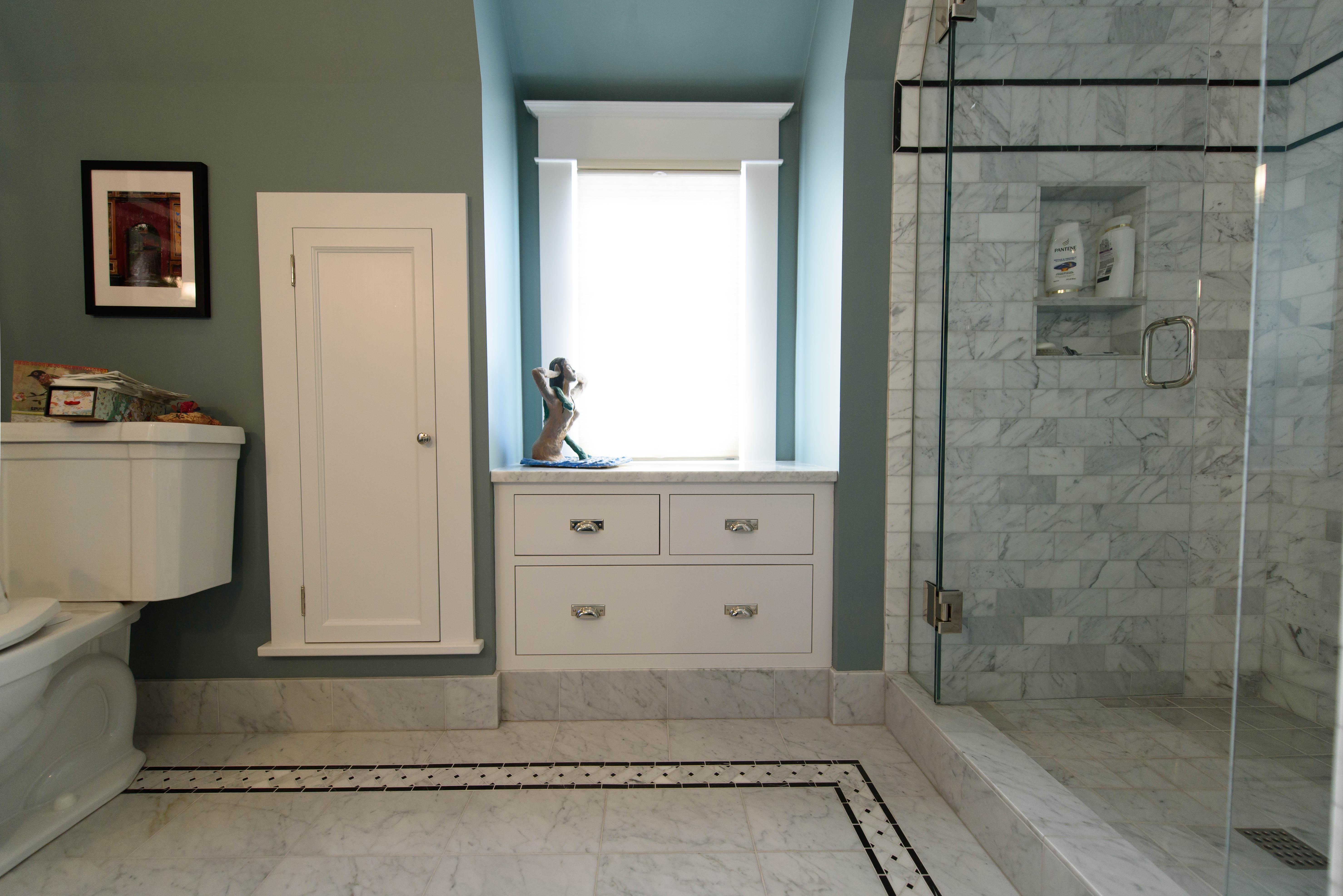 Irvington Marble Bathroom